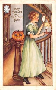 Halloween Post Card Old Vintage Antique A.C. Bosselman 191