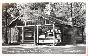 C41/ Feather River Park California Ca Postcard Real Photo RPPC 40s Cabin Plumas