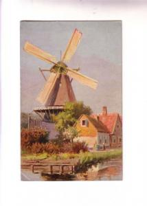 Gersteinhauer, Closeup Windmill and Houses, PCK Series, Belmont Nova Scotia S...