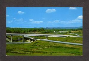NC Interstate Highway Hwy Super Roadway Asheville North Carolina Postcard PC
