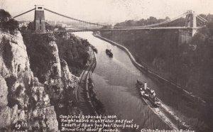 RP; BRISTOL, England, 1900-1910's; Clifton Suspension Bridge