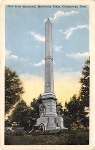 Civil War Post Cards Ohio State monument, missionary Ridge Chattanooga, Tenne...