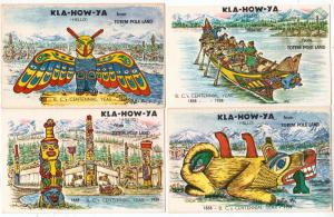 4 - Kla-How-Ya - Totem Pole Land - Centennial 1858 - 1958