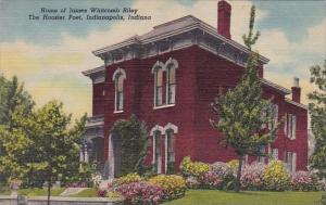 Indiana Indianapolis Home Of James Witecomb Riley The Hoosier Poet