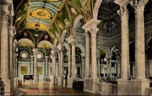 Washington D C Library Of Congress Central Hall Second Floor