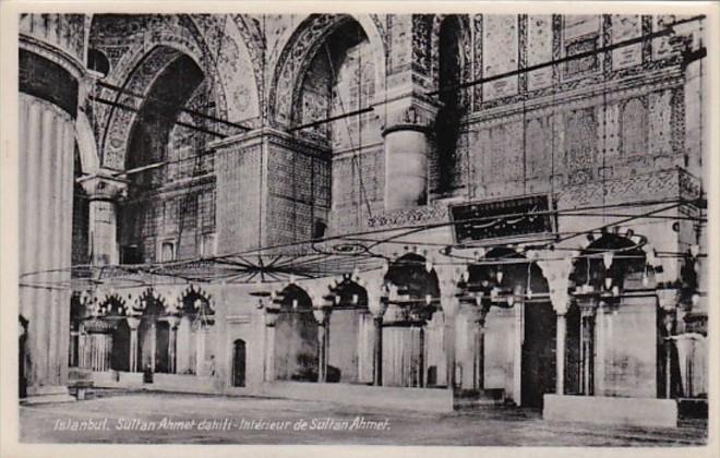 Turkey Istanbul Sultan Ahmet dahili Interior View Photo