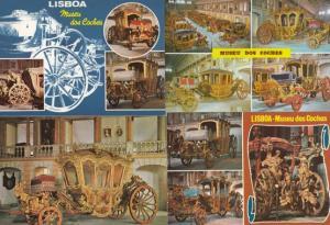Lisboa Portugal Portuguese Coach Museum Transporation 4x Postcard Bundle