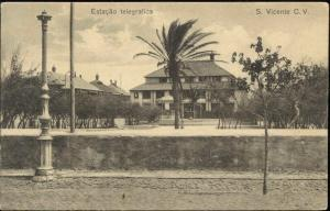 cabo verde, SAO VICENTE, Estacao Telegrafica (1910s)