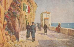 MENTON , France , 000-10s : Le Poste de Douane    : TUCK