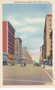 Kansas Wichita Douglas Avenue Looking East 1944 Curteich