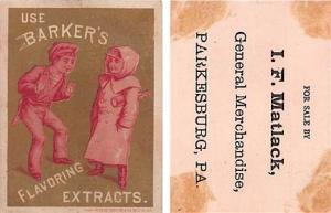 Approx Size Inches = 2.75 x 3.75  Tradecard