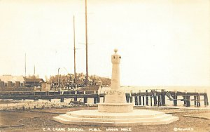 Woods Hole MA C. R. Crane Sundial By Howard Real Photo Postcard