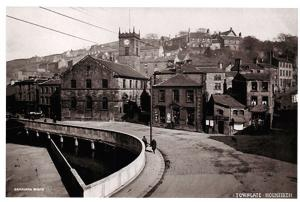 Vintage Reproduction 1916 Holmfirth Postcard, Towngate, Yorkshire 86C