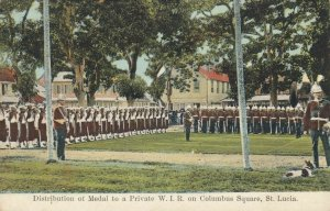 ST. LUCIA , 00-10s ; Medal Ceremony, Private W.I.R. , Columbus Square