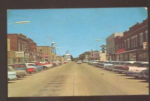 BURLINGTON COLORADO DOWNTOWN STREET SCENE 1960's CARS VINTAGE POSTCARD