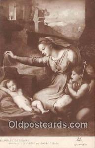 Religion Postcard Raphael La Vierge Au Diademe Bleu