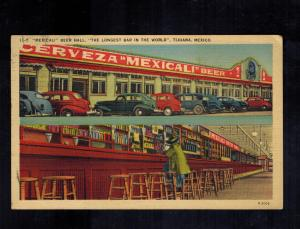 1940 Tijuana Mexico Picture Postcard Cover to USA Mexicali Beer hall Cerveza