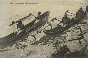 Comoros, Native Canoes (1899) Messageries Maritimes Postcard