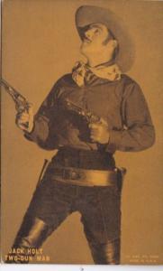 Vintage Cowboy Arcade Card Jack Holt The Two Gun Man