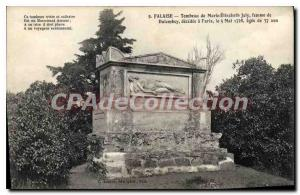 Postcard Old Flaise Tomb of Marie Elisabeth Joly Dalembey woman died in Paris...
