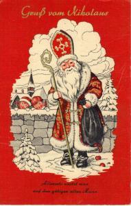 Gruss vom Nikolaus Saint Nicholas postcard