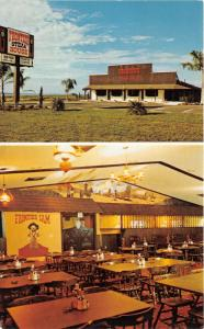 Fort Myers Florida~Frontier Steak House 2 Views~Dining Room~1960s Roadside