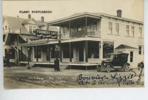 JACKMAN, MAINE FOURNIERS CAFE ROADSIDE RPPC REAL PHOTO POSTCARD