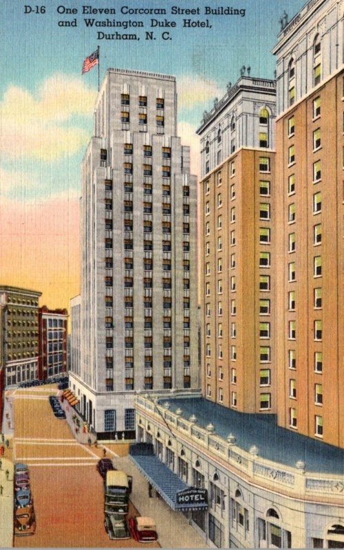 North Carolina Durham One Eleven Corcoran Street Building and Washington Duke...