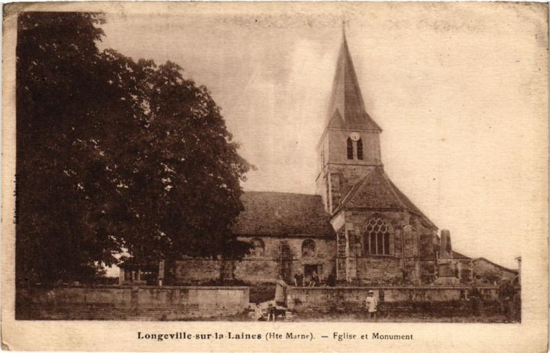 CPA Longeville sur la Laines - Eglise et Monument (368595)