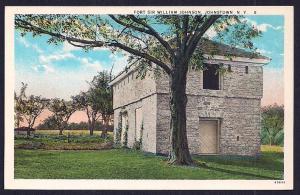 Fort Sir William Johnson Johnstown NY unused c1920's