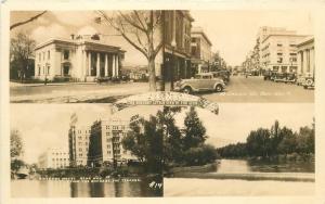 Autos Court House Virginia Street 1930s Mulitview Riverside Hotel RPPC 6432