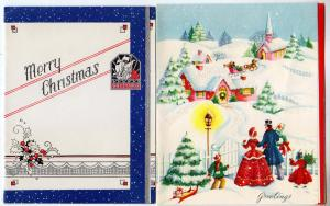 2 - Christmas Cards, (1 Glass Beaded)