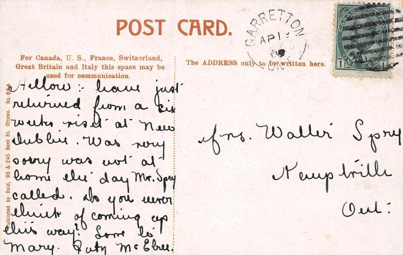 Alexandra Bridge, Ottawa, Ontario, Canada, Early  Postcard, Used