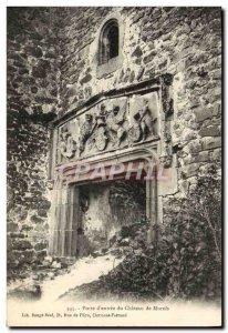 Old Postcard Porte d & # 39entree du Chateau Murols