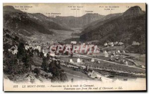 Old Postcard Le Mont Dore Panorama seen road Clermont Panorama seen from the ...