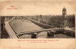 CPA PISA ponte di Mezzo Buffet de la Gare. ITALY (468177)
