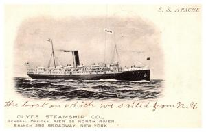S.S.Apache , Clyde Steamship Co.