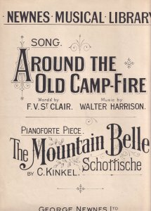 Around The Old Camp Fire Walter Harrison Military Frontline Sheet Music