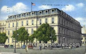 Raleigh, NC USA,  Post Office Postcard, Postoffice Post Card Old Vintage Anti...
