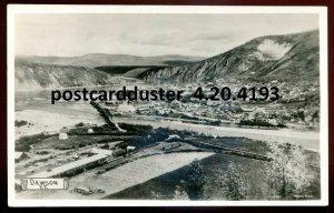 4193 - DAWSON Yukon 1930s Birds Eye View. Real Photo Postcard