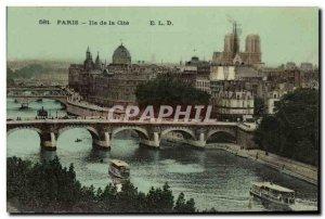 Old Postcard Paris Ile de la Cite