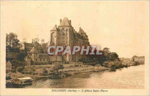 Old Postcard Solesmes (Sarthe) The St. Peter's Abbey