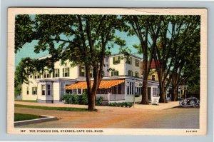 Cape Code MA, The Hyannis Inn, Hotel Advertising Linen Massachusetts Postcard