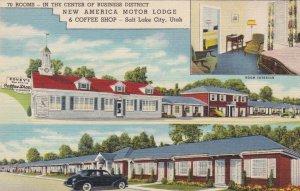 Utah Salt Lake City Covey's New America Motor Lodge & Coffee Shop Curteich s3499