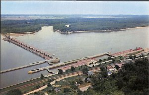 Lock & Dam Lookout Point New Orleans and St. Paul at Clarksville, Missouri Mint