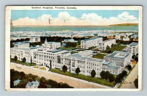 Toronto Ont. Canada - Aerial View of the General Hospital, Vintage Postcard