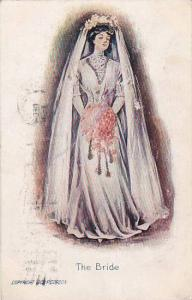 Beautiful Woman The Bride Wedding Dress 1908