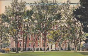Main Building, University Of Arkansas, FAYETTEVILLE, Arkansas, 1930-1940s