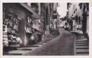 Switzerland Lugano Via Cathedrale Street Scene