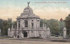 DETROIT, Michigan, 1900-1910's; Entrance To Water Work Park